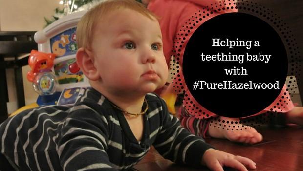 Helping a teething baby with #PureHazelwood