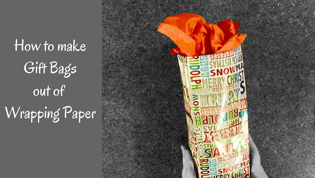Gift bag out of wrapping paper