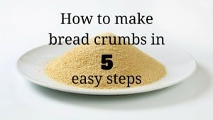 from now on you can make your own bread crumbs and it's super easy! Just follow these 5 steps