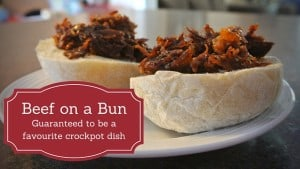 Beef on a Bun. Guaranteed to be a favourite crockpot dish.