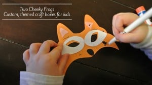 Two Cheeky Frogs. Custom, themed craft boxes for kids