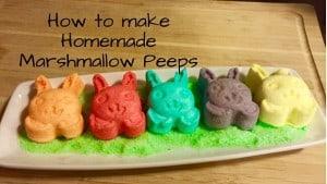 How to make Homemade Marshmallow Peeps