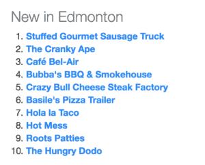 New Food Trucks around Edmonton