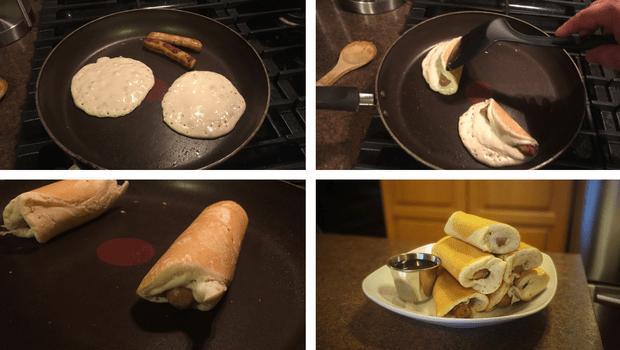 Pancake sausage dippers