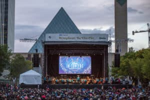 Listen to Disney songs: Symphony in the City at Churchill Square