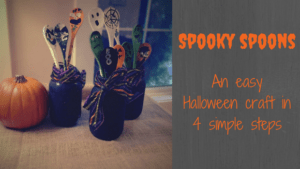 Spooky spoons. An easy Halloween craft in 4 simple steps