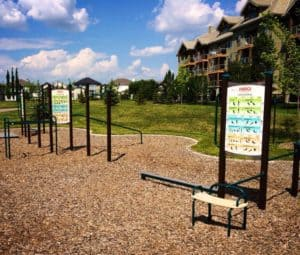 Edmonton Parks with fitness equipment