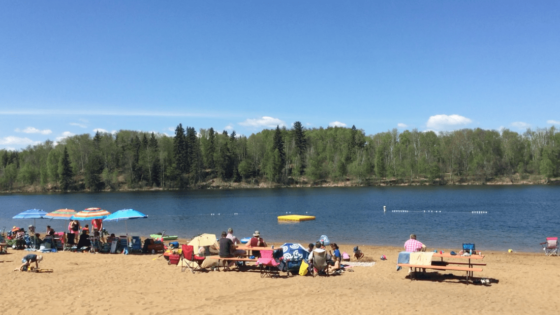day trips from edmonton  long island lake campground