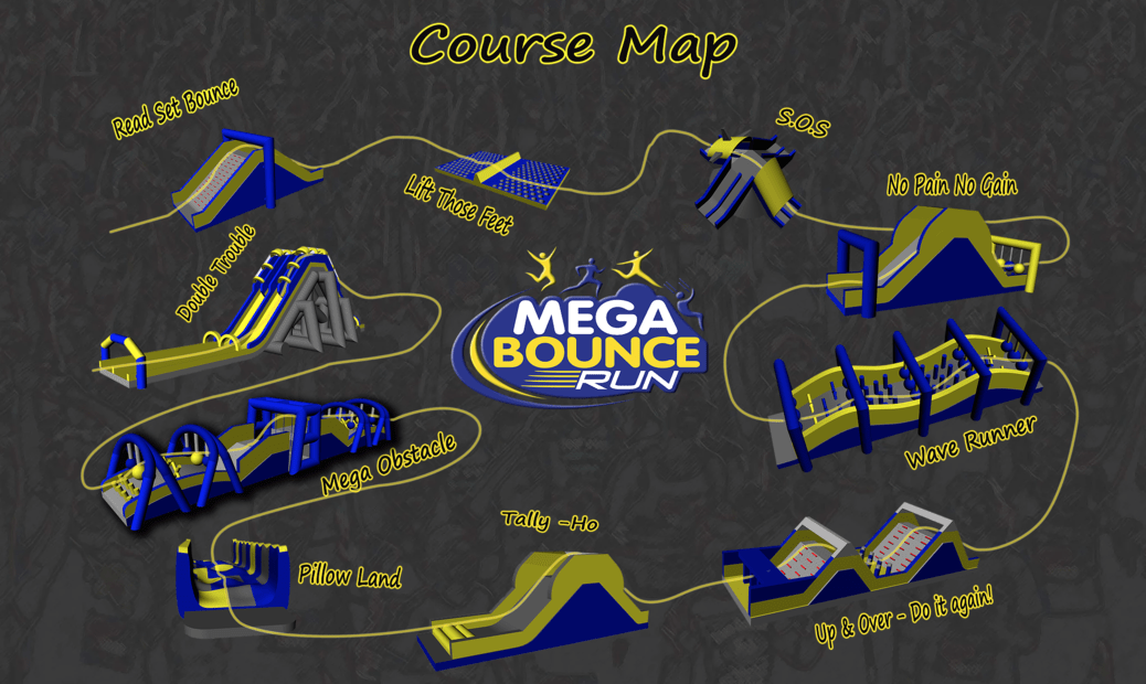mega bounce run
