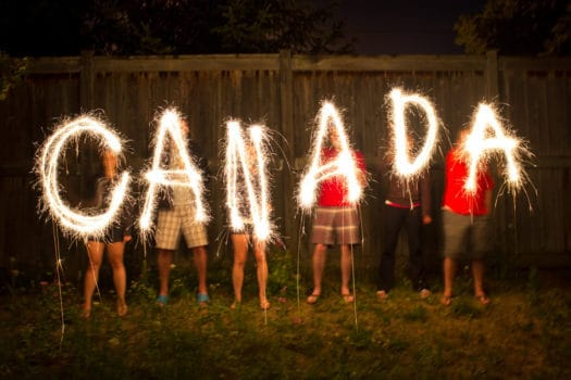 Fireworks around Edmonton
