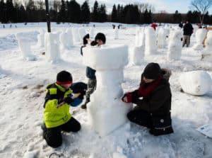 February around Edmonton with kids