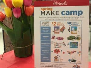 Affordable fun at Michaels Spring Make Camp 2018