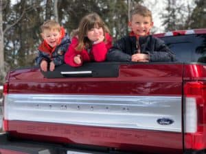 Family Road Trip to Red Deer in the 2018 Ford F-350