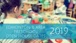 Edmonton & Area Preschool Open House Dates